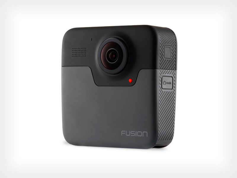 Fusion captures 360 video and photos, recording in 360-degree.